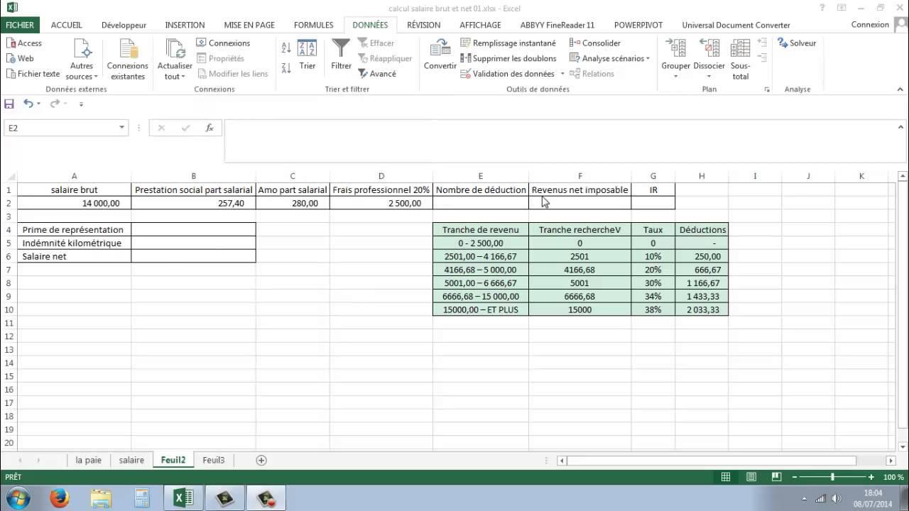 comment calculer un salaire net a partir du brut